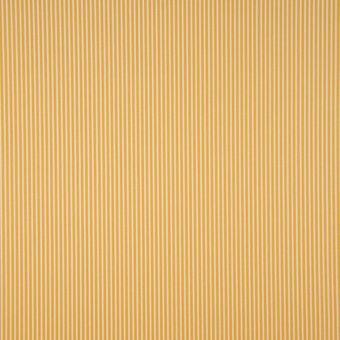 Tissu popeline coton à motifs rayures jaune
