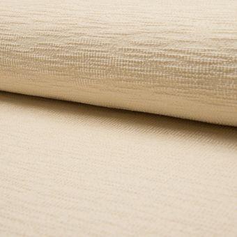 Tissu velours chenille effet chiné texturé uni écru