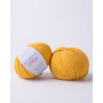 Pelote à tricoter coton-acrylique Phildar Cabotine tournesol