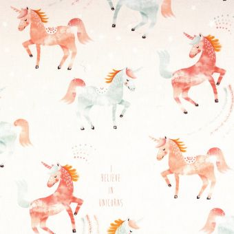 Tissu coton épais licornes