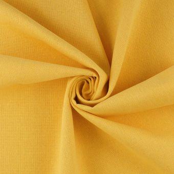 Tissu demi natté jaune coton recyclé