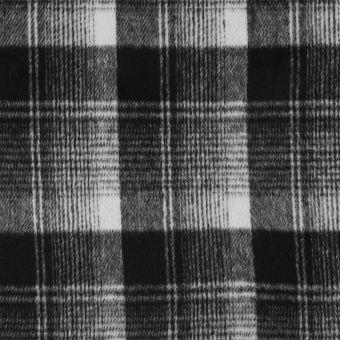 Tissu effet lainage à carreaux dégradé gris
