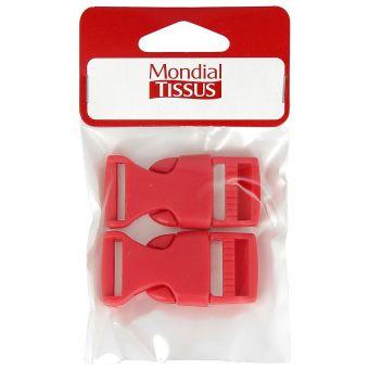 Boucles à ouverture rapide rouges en plastique 20 mm
