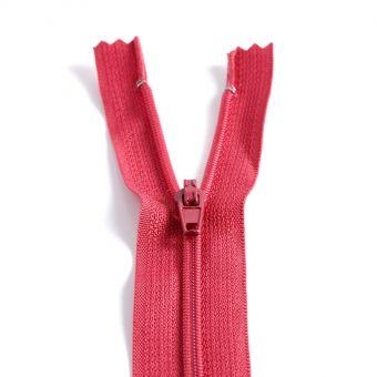 Fermeture polyester non séparable à glissière - Rose