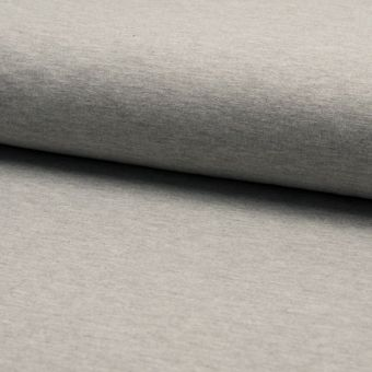 Tissu molleton sweat french terry extensible gris chiné
