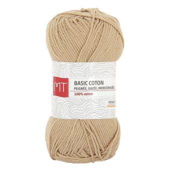Pelote de fil à tricoter MT Basic coton naturel
