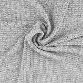 Tissu côtelé polyester gris chiné