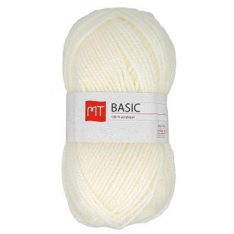 Pelote de fil à tricoter MT basic écru