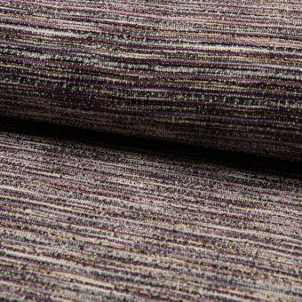 Tissu jersey fil chenille rayé brillant fuchsia