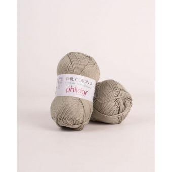 Pelote de coton à tricoter Phildar 3 tilleul
