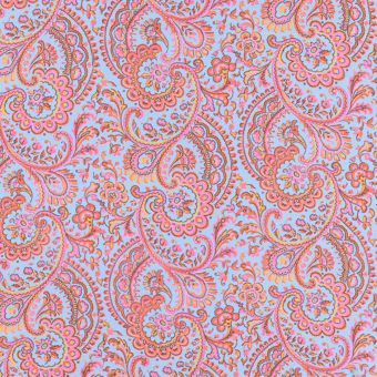 Tissu Liberty soie arabesques roses