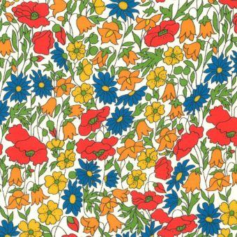Tissu popeline de coton Liberty Poppy Daisy