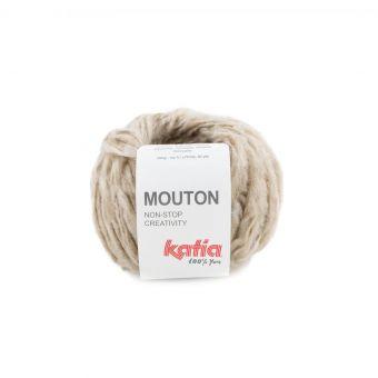 Pelote de fil à tricoter Katia Mouton beige