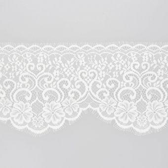 Ruban dentelle nylon blanc 150mm
