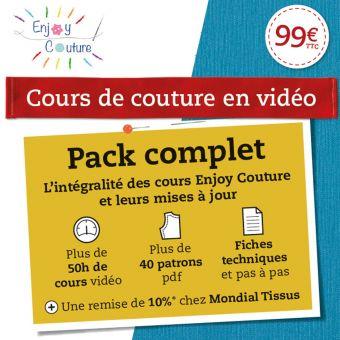 Cours de couture vidéo - Pack Complet