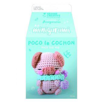 Kit mini amigurumi cochon 100 mm