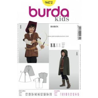 Patron Burda 9472 Historique Robin des bois de 7 à 15 ans