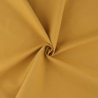 Tissu flanelle bio légère jaune moutarde