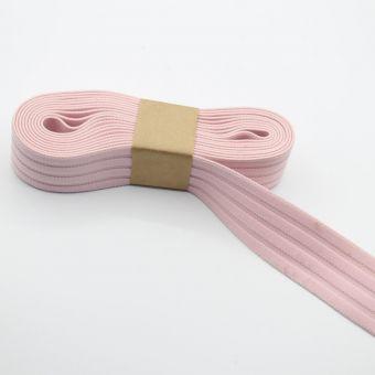 Elastique pour jupe côtelé rose clair 40 mm