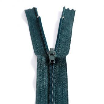 Fermeture polyester non séparable à glissière - Vert foncé