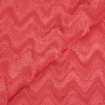 Tissu douillette zigzag fuchsia
