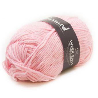 Pelote de fil à tricoter week-end rose layette - Plassard