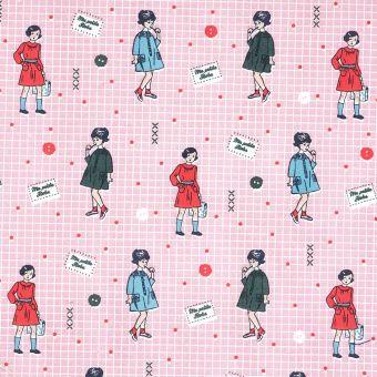 Tissu coton rose ma petite robe