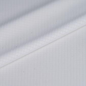 Tissu sportswear polyester recyclé respirant blanc