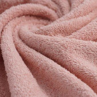 Tissu éponge coton bio rose