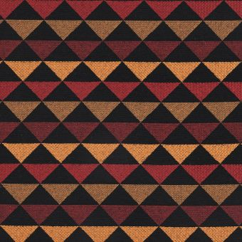 Tissu jacquard triangle Selena orange