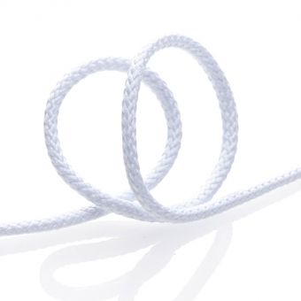 Cordon tressé pour manteau 4mm - Blanc