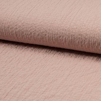 Tissu stretch gaufré vieux rose polyester viscose