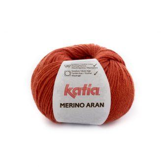 Pelote de fil à tricoter Katia Merino Aran orange