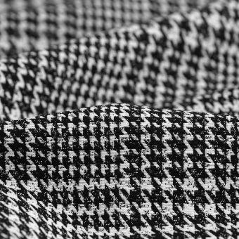 Tissu lainage viscose pied de poule