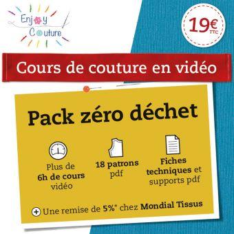 Cours de couture vidéo - Pack zéro déchet