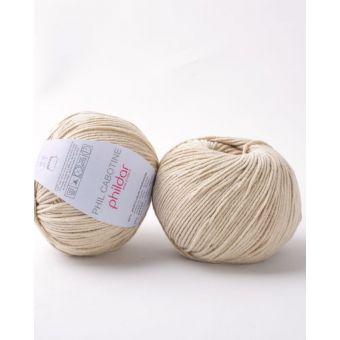 Pelote à tricoter coton-acrylique Phildar Cabotine sable