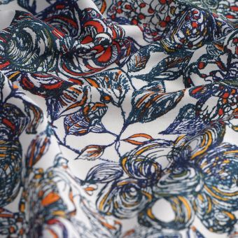 Tissu coton Liberty crayonne bleu