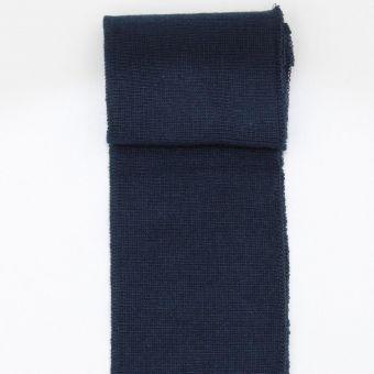 Bas de blouson uni bleu