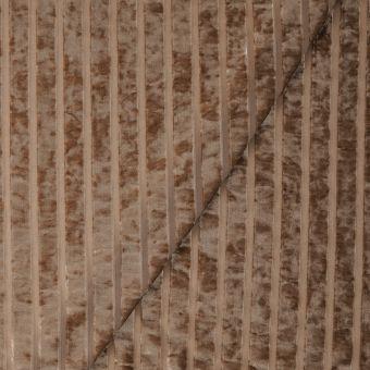 Tissu velours côte relief marron