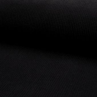 Tissu velours milleraies noir