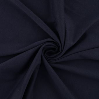 Tissu interlock coton pima bleu marine