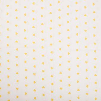 Tissu coton cœurs jaune