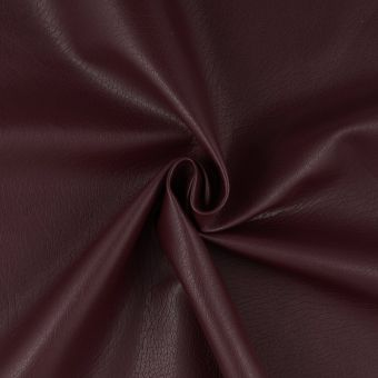 Tissu simili cuir brun roux