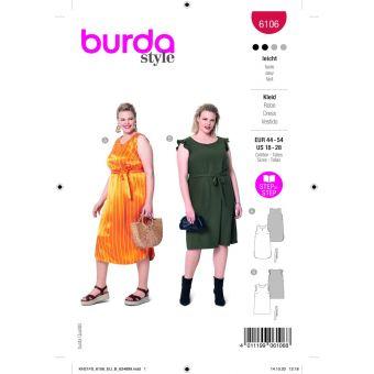 Patron Burda 6106 robe du 44 au 54