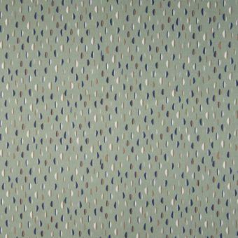 Tissu popeline coton bio à motifs pastilles menthe