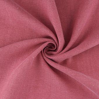 Tissu lin chemise délavé rose