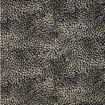 Tissu twill cupro viscoses mini tâches animales beige et noir