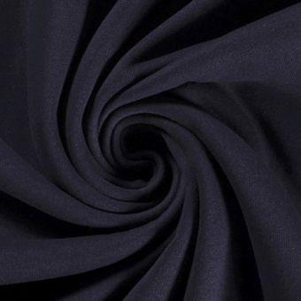 Tissu molleton sweat coton bio et recyclé bleu marine