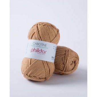 Pelote à tricoter coton-acrylique Phildar Cabotine caramel