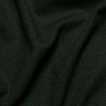 Tissu crêpe de laine vert sapin uni fait en Italie